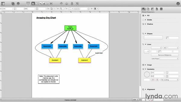 Lock and unlock elements: OmniGraffle 6 Essential Training