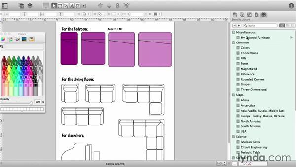 Create a custom stencil: OmniGraffle 6 Essential Training