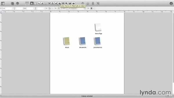 Replicate shapes: OmniGraffle 6 Essential Training