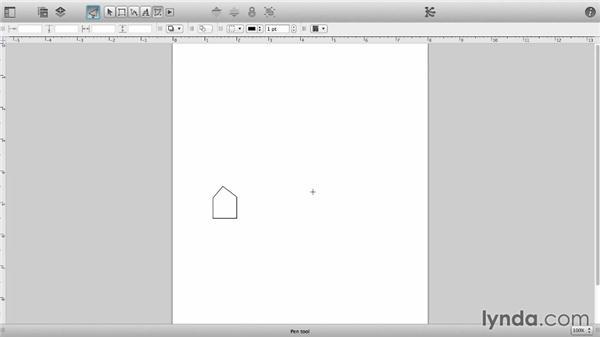 Draw custom shapes with the Pen tool: OmniGraffle 6 Essential Training