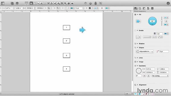 Connecting shapes: OmniGraffle 6 Essential Training