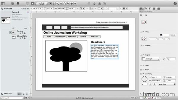 Canvases and layers: OmniGraffle 6 Essential Training