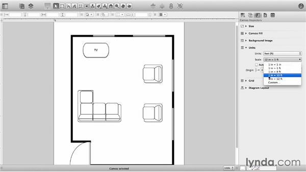 Adjust ruler units and scale: OmniGraffle 6 Essential Training