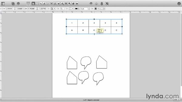 Create tables: OmniGraffle 6 Essential Training