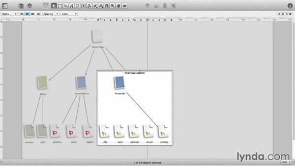 Create collapsible subgraphs: OmniGraffle 6 Essential Training