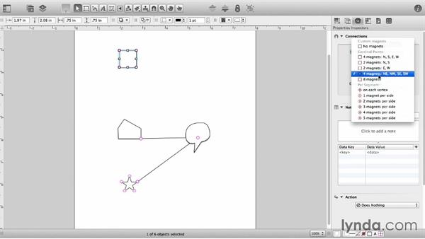 The Connections inspector: OmniGraffle 6 Essential Training