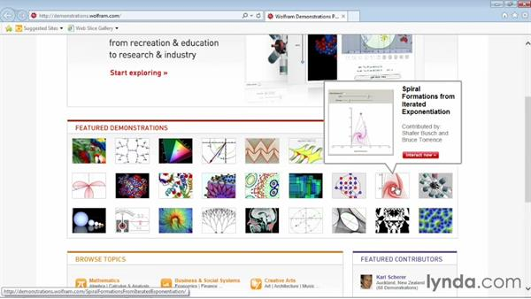 Browsing the Demonstrations library: Up and Running with Mathematica 9