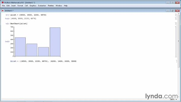 Creating a bar chart: Up and Running with Mathematica 9