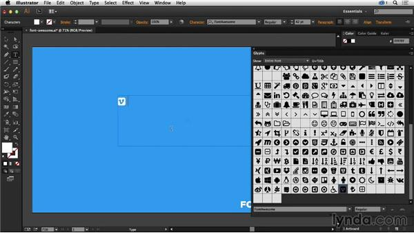 Using Illustrator's Glyphs Panel for icon fonts: Creative Quick Tips