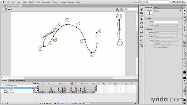 Fixing timing charts: Hand-Drawn Animation in Flash