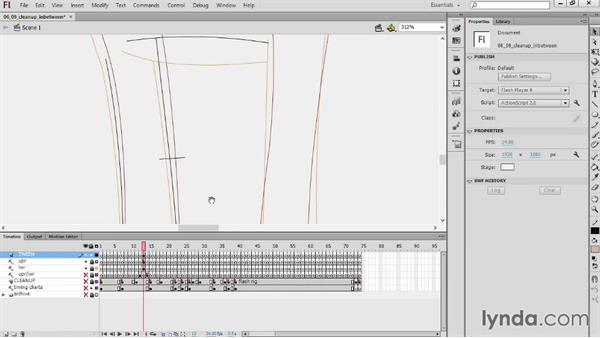 Cleaning up the in-betweens: Hand-Drawn Animation in Flash