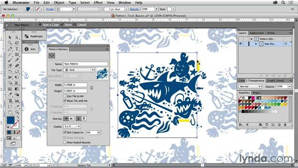 Pattern tool basics: Drawing Vector Graphics: Patterns