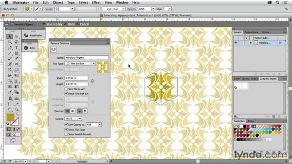 Selecting appropriate artwork: Drawing Vector Graphics: Patterns