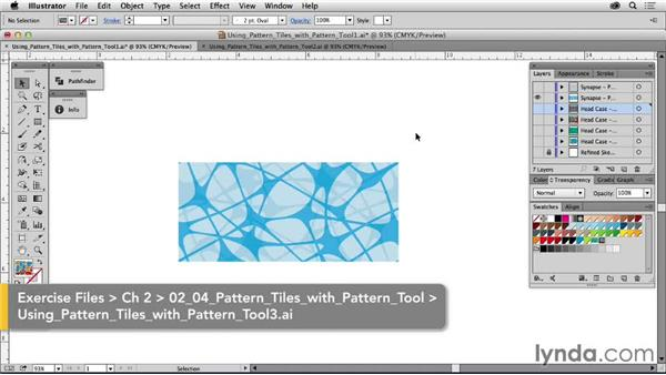 Using pattern tiles with the Pattern tool: Drawing Vector Graphics: Patterns