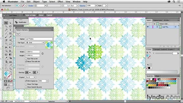 Pattern tool limits: Drawing Vector Graphics: Patterns