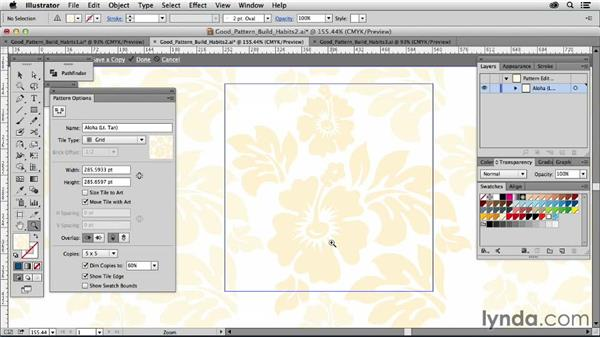 Good pattern-building habits: Drawing Vector Graphics: Patterns
