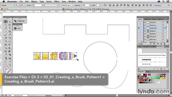 Creating a brush pattern: Drawing Vector Graphics: Patterns