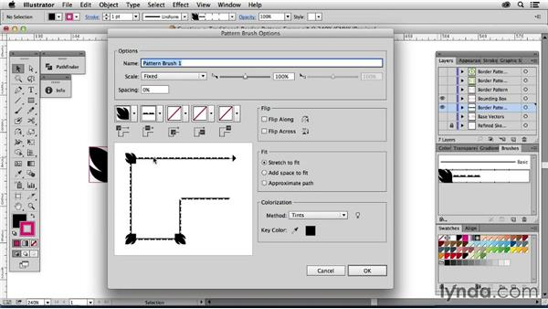 Creating a traditional border pattern frame: Drawing Vector Graphics: Patterns