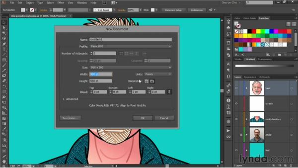 Preparing a photographic tracing template: Designing Your Own Online Avatar