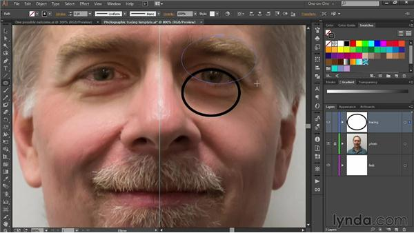Tracing eyes with the Ellipse tool: Designing Your Own Online Avatar