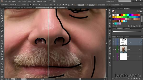 Drawing asymmetrical facial features: Designing Your Own Online Avatar