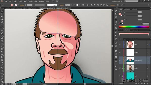 Shading a face with gradients: Designing Your Own Online Avatar