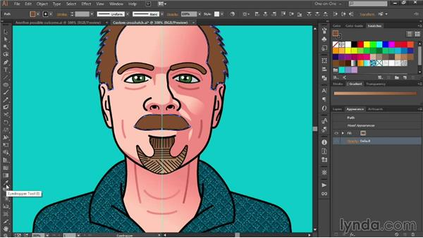 Combining gradients with crosshatching: Designing Your Own Online Avatar
