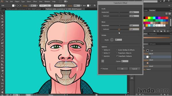 Repositioning patterns inside paths: Designing Your Own Online Avatar