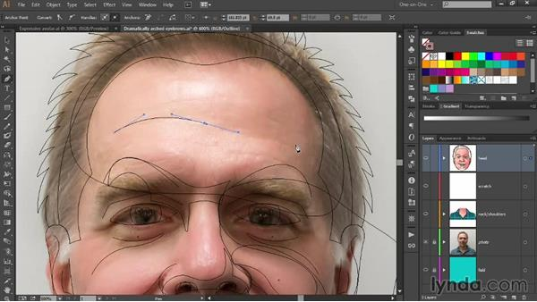 Adding selective wrinkle lines: Designing Your Own Online Avatar