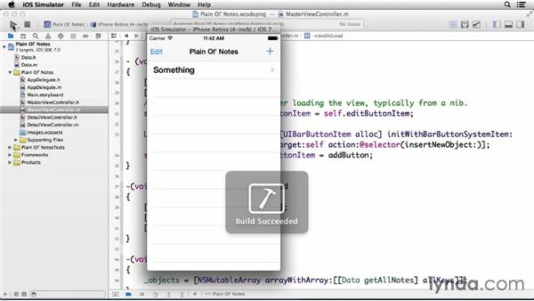 Controlling note display in a table view: Building a Note-Taking App for iOS 7
