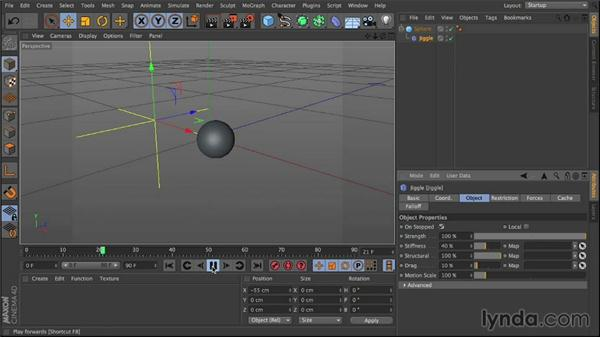 Basic setup using spheres and deformers: Mograph Techniques: Creating a Flat Vector Look using C4D and After Effects