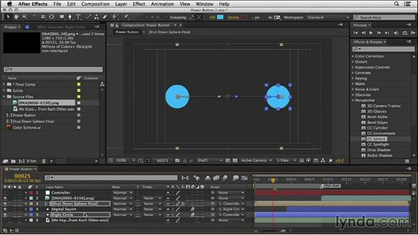 Matching elements to the DNA animation: Mograph Techniques: Creating a Flat Vector Look using C4D and After Effects