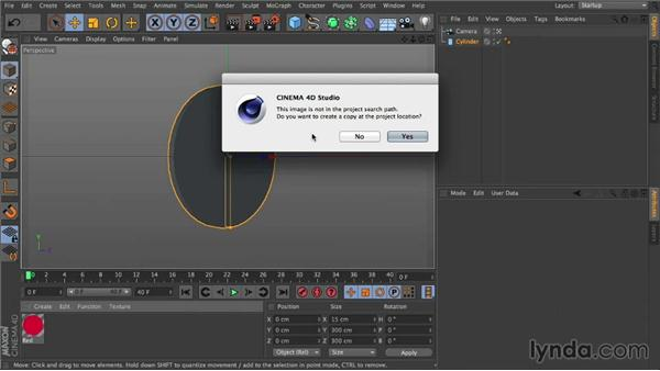 Create the main coin and set materials: Mograph Techniques: Creating a Flat Vector Look using C4D and After Effects