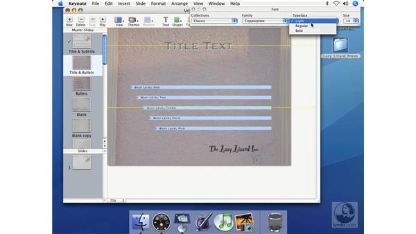 Formatting text: Keynote 2 Essential Training