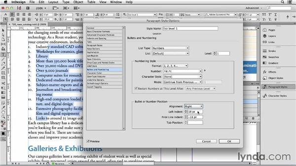 138 Making a multi-level numbered list: InDesign Secrets