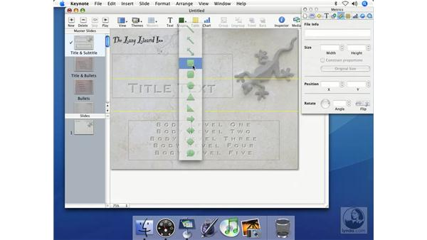 Moving, rotating, and resizing text: Keynote 2 Essential Training