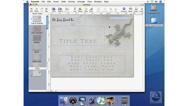 Locking text: Keynote 2 Essential Training