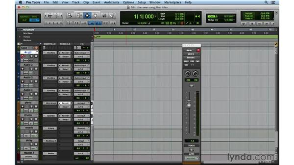 Recording the first idea for the song in Pro Tools: Songwriting in Pro Tools