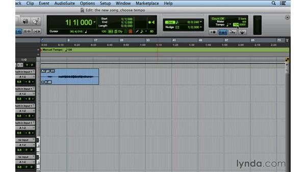 Choosing the right tempo for the song: Songwriting in Pro Tools