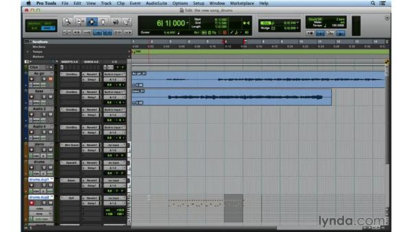 Making a demo beat: Songwriting in Pro Tools