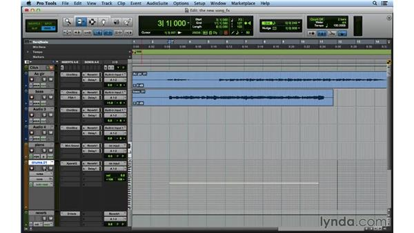 Adding compression, EQ, reverb, and delay to your demo: Songwriting in Pro Tools
