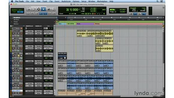 Changing the tempo and key later on in the process: Songwriting in Pro Tools