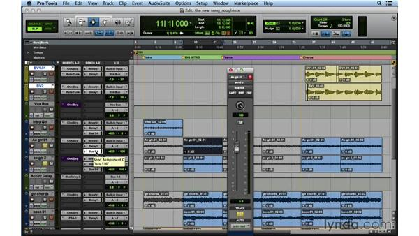 Creating a rough mix: Songwriting in Pro Tools