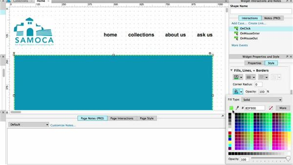 Customizing widget color and opacity: UX Design Tools: Axure