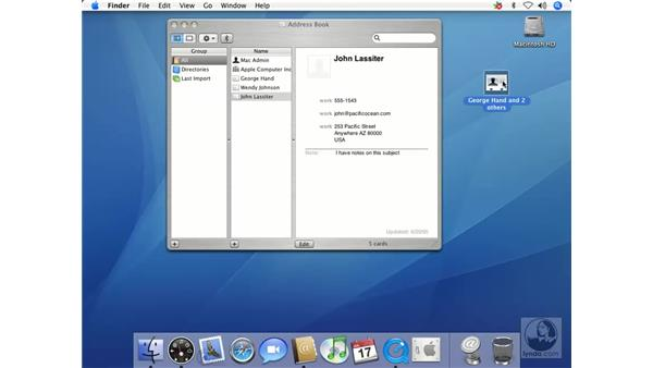 Importing and Exporting: Mac OS X 10.4 Tiger Essential Training