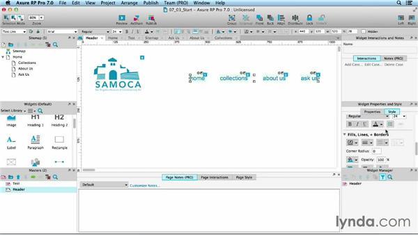 Editing a master: UX Design Tools: Axure