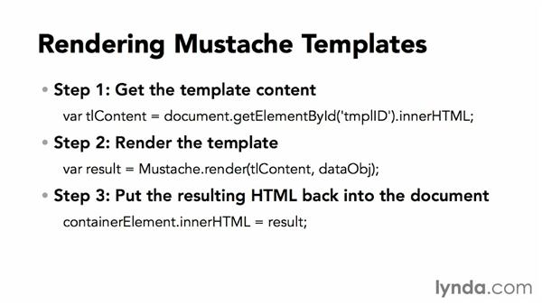 Simple Mustache templates: JavaScript Templating