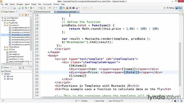 Functions: JavaScript Templating