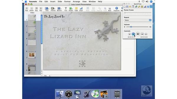 Adding music to slides: Keynote 2 Essential Training