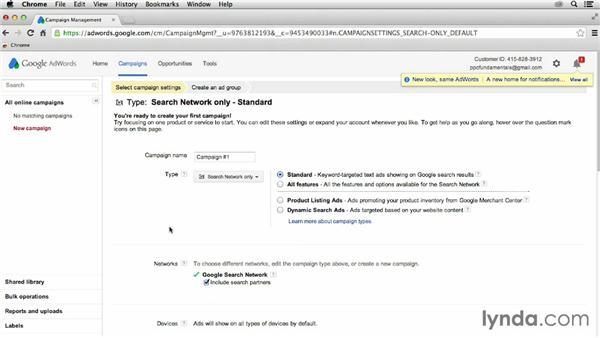Creating a Google AdWords account: Pay-Per-Click Fundamentals